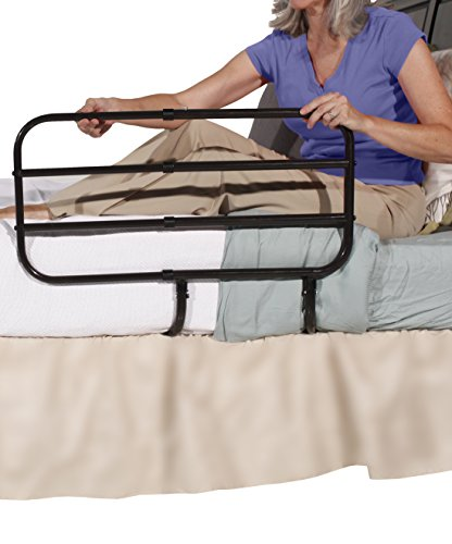 Able Life Bedside Extend-A-Rail – Adjustable Adult Home Safety Bed Rail + Elderly Assist Support Handle