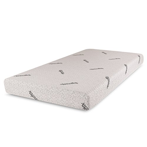 "Cr Sleep Gel Infused Memory Foam Mattress with Bamboo Cover, Twin, 6"" W"