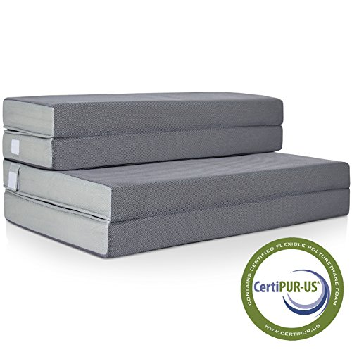 Best Choice Products 4″ Folding Portable Mattress Twin