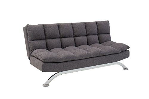 Pearington Pillow Top Bella Futon Sofa Lounger, Grey