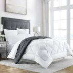 Sleep Restoration Goose Down Alternative Comforter – Reversible – All Season Hotel Quality Luxury Hypoallergenic Comforter -Full/Queen – Grey/White