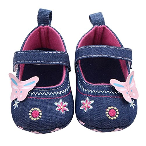 Gotd Newborn Baby Toddler Girl Floral Hollow Soft Sole Crib Shoes (S: 0~6 Months, Gold)