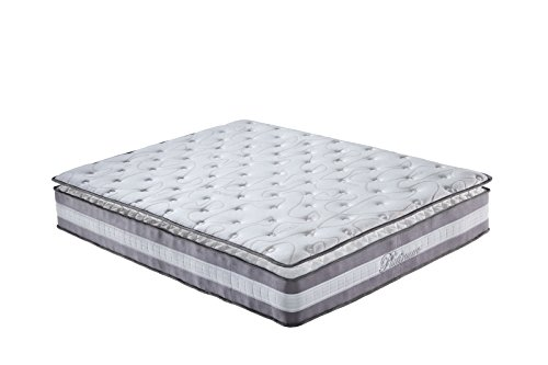 High Density 13-inch Hybrid Memory Foam and Innerspring Mattress with Plush Pillow Top (Twin)