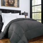 Zen Bamboo Luxury Goose Down Alternative Comforter made with Bamboo – All Season Hotel Quality Hypoallergenic Duvet Insert – Full/Queen – Gray