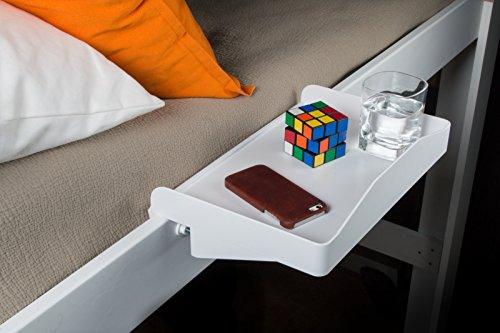 Bunk Buddy Bedside Shelf – White