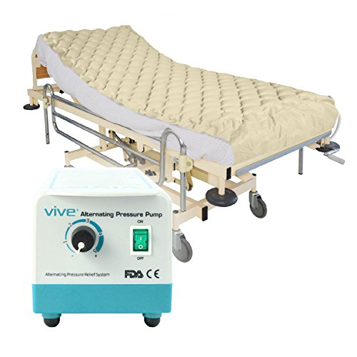 Alternating Pressure Mattress by Vive – Includes Electric Pump & Mattress Pad – Inflatable Bed Pad for Pressure Ulcer and Pressure Sore Treatment – Fits Standard Hospital Beds