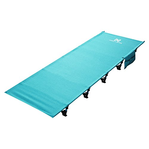 Moon Lence Portable Ultralight Compact Camping Cot Bed With 350 Lbs Bearing Breathable Waterproof Bed Surface,Perfect for Base Camp,Hiking and Hunting