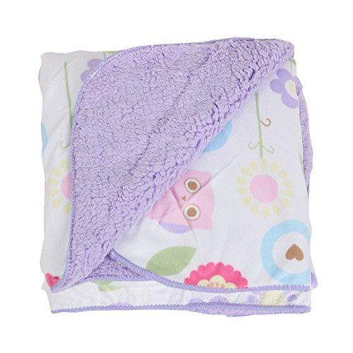 Labebe Baby Newborn Animal Cartoon Cashmere Blanket Soft and Multi Uses(Purple)