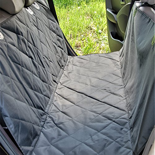 Car Seat Covers for Dogs – Washable – Waterproof – with Non-Slide Back Side – Pet Hammock for Car -Easy Installing Bench Seat Cover with Straps and Belt Holes -Comes with Storage Bag and Dog Seat Belt