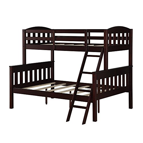 Dorel Living Dorel Living Airlie Twin over Full Bunk Bed, Espresso