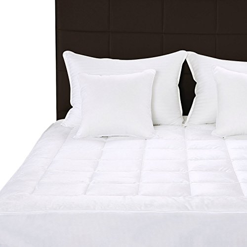Quilted Fleece Mattress Pad (Twin) – Mattress Cover Stretches up to 16 Inches Deep – Fleece Mattress Topper and Mattress Protector by Utopia Bedding