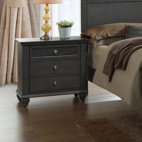 Home Source H-1056-NS Night Stand, Antique Grey