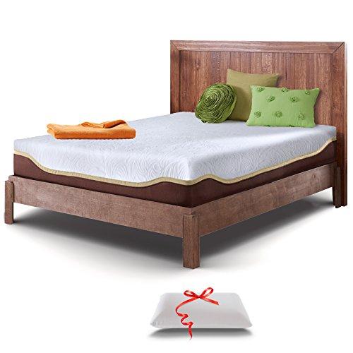 Resort Sleep Elite Twin XL 10-Inch Gel Memory Foam Mattress and Pillow