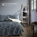Vougemarket 3 Piece Duvet Cover Set (Queen,King) Duvet Cover with 2 Pillow Shams – Hotel Quality 100% Cotton – Luxurious, Comfortable, Breathable, Soft and Extremely Durable (Queen, Style6)