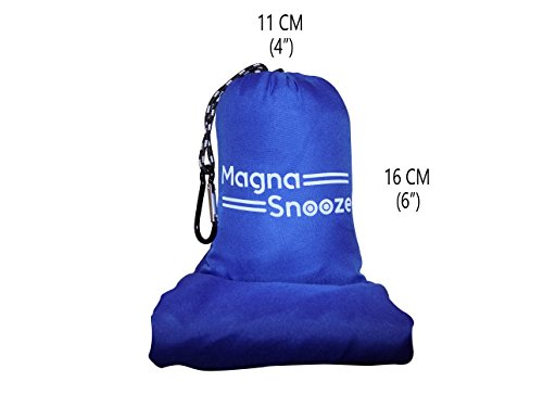 Sleeping Bag Liner with Sleep Mask, Blow Up Pillow And Earplugs : Camping And Hiking Sleep Sack, Breathable Polyester For Warm And Cold Climate, Compact And Lightweight Travel Sheet by Magna Snooze