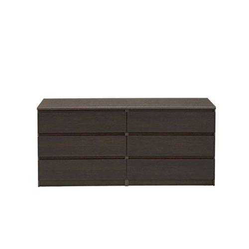 Tvilum 7029620 Scottsdale 6 Drawer Double Dresser, Coffee