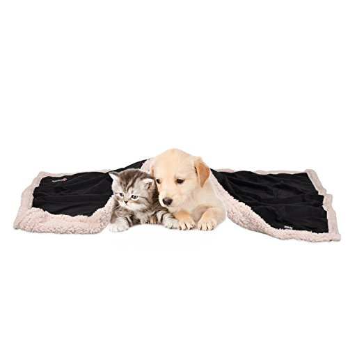 """Pawsse Pet Sherpa Throw Blanket, Fleece Snuggle Dog Blanket Cushion Mat for Puppy Cat Small Animals 45""""x30"""""""
