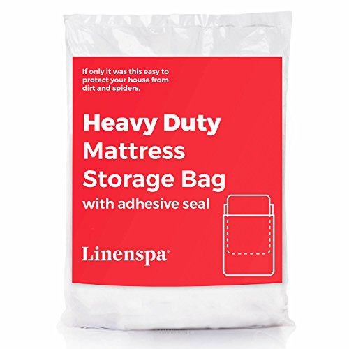 LINENSPA Heavy Duty 6 mil Mattress Bag for Moving, Storage and Disposal – Twin / Twin XL