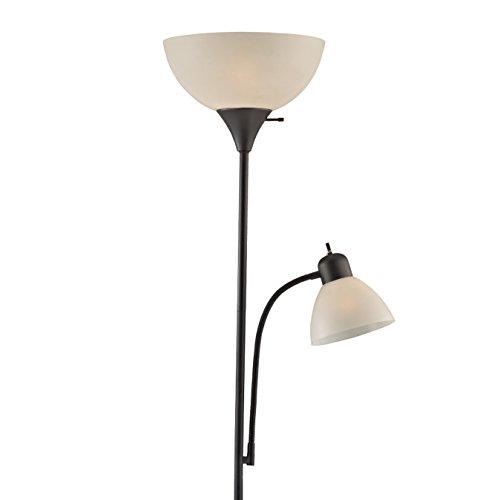 Light Accents 150 Watt Floor Lamp with Side Reading Light – Floor Lamps – Dorm Room Floor Lamp – Floor Lamps for Living Room – Kids Floor Lamp – Standing Lamp (Black)