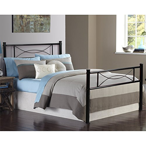 Yanni Premium Modern Easy Set-Up Steel Platform Bed Frame,Twin, Enhanced Sturdy Metal Slats (Black)