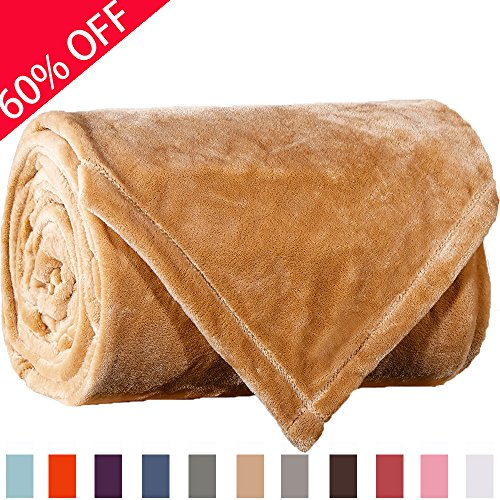Sonoro Kate Fleece Blanket Soft Warm Fuzzy Plush Extra Queen(100-Inch-by-90-Inch) Lightweight Cozy Bed Couch Blanket,Easy Care, Cream