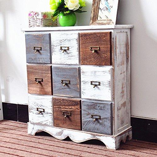 DL-Furniture Fully Assembled 9 Drawer Dresser Storage Shelf Organizer 100% Light Weight Basswood   Multi Color