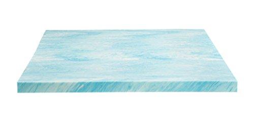 DreamFoam Bedding DF20GT2066 2″ Gel Swirl Memory Foam Topper, King, Aqua Blue