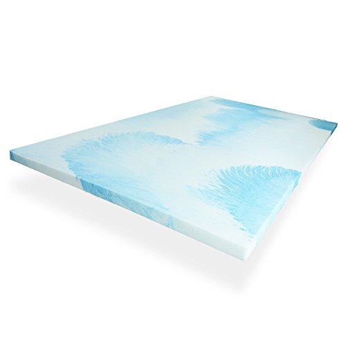 Capsa Sleep 2 Inch, Gel Infused Memory Foam Mattress Topper – Foam Mattress Pad Made in the USA – Twin XL