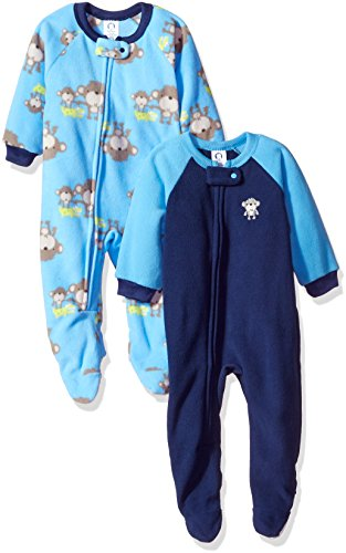 Gerber Baby Boy 2 Pack Blanket Sleeper, monkeys, 18 Months