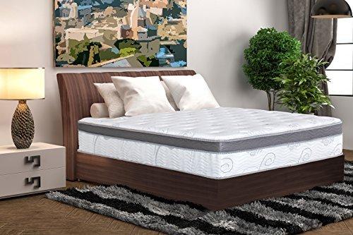 Olee Sleep 13 Inch Box Top Hybrid Gel Infused Memory Foam Innerspring Mattress (Full) 13SM01F