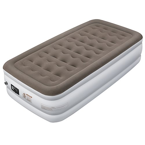 """Etekcity Upgraded Air Mattress Blow Up Elevated Raised Bed Inflatable Airbed with Built-in Electric Pump, Height 18"""", Twin Size"""