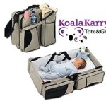 Koala Karry Tote & Go Baby Diaper Bag and Portable Bassinet (3-in-1) Padded Changing Station & Travel Sleep Crib | Bottle, Toy, Wipes Storage Pockets | Infants, Newborns, Toddlers