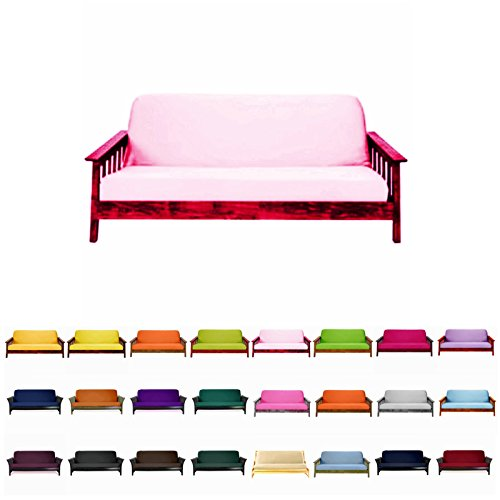 Magshion@Futon Cover Slipcover (Baby Pink, Full (54×75 in.))