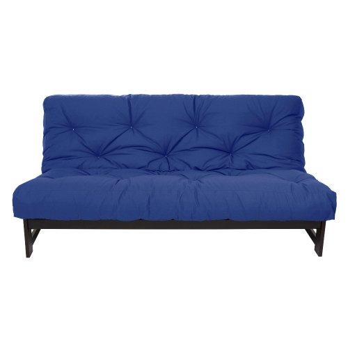 Mozaic Full Size 12-inch Cotton Twill Futon Mattress, Blue