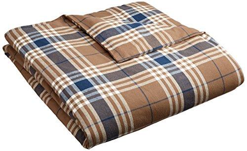 Pinzon Plaid Flannel Duvet Cover – Twin, Brown Plaid