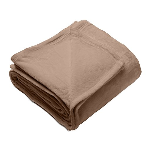 Silana Collection Ultra Velvet Plush All-Season Super Soft Luxury Bed Blanket. Lightweight and Warm for Ultimate Comfort. By Home Fashion Designs Brand. (King, Latte)