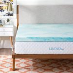 LINENSPA 3 Inch Gel Swirl Memory Foam Topper – Twin