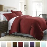 Beckham Hotel Collection Luxury Soft Brushed 1800 Series Microfiber Duvet Cover Set – Hypoallergenic – Full/Queen, Burgundy