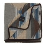 Ruth&Boaz Outdoor Wool Blend Blanket Ethnic Inka Pattern(M) (GREY, LARGE)