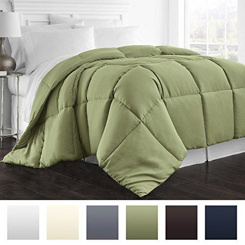 Beckham Hotel Collection 1800 Series – All Season – Luxury Goose Down Alternative Comforter – Hypoallergenic –Full/Queen – Sage