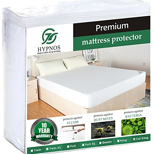 California King Size Mattress Pad Protector – Premium Waterproof & Hypoallergenic Cover – Vinyl Free, Terry Cotton Topper – Hypnos