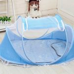 Baby Travel Bed Portable Travel Crib, Blue – Pop-Up Beach Tent Protect from Sun & Bugs