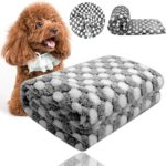 Comsmart Puppy Blanket Warm Dog Cat Flannel Blankets Mat Bed Cover with Black and White Dot Soft Pet Blanket for Puppies Kitties and Other Small Animals