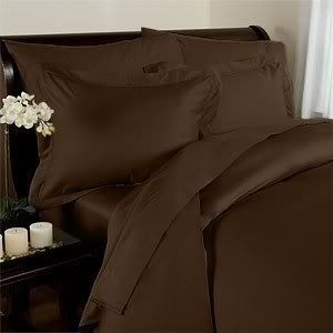 Elegant Comfort 1500 Thread Count Wrinkle Resistant Egyptian Quality 3-Piece Duvet Cover Set, Full/Queen, Chocolate Brown