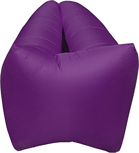 Inflatable Lounger- Premium Air Mattress Sofa Bed- For Indoors & Outdoors-Campling,Hiking,Traveling,Park,Beach-Easy To Inflate- Puncture Resistant & Lightweight Air Couch (PURPLE)