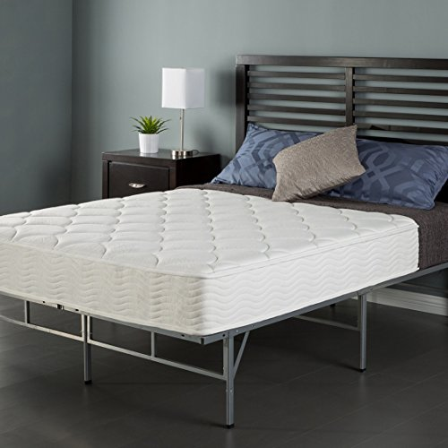 Sleep Master 8″ Coil Mattress and Easy to Assemble Smart Platform Metal Bed Frame, Twin