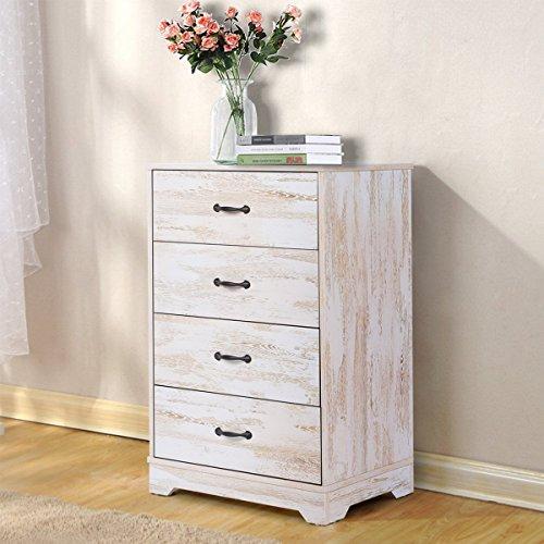 DEVAISE 4-Drawer Chest Wood Dresser for Home & Office (Oak-A)