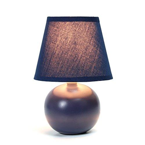 Simple Designs Home LT2008-BLU Simple Designs Mini Ceramic Globe Table Lamp Mini Ceramic Globe Table Lampblue
