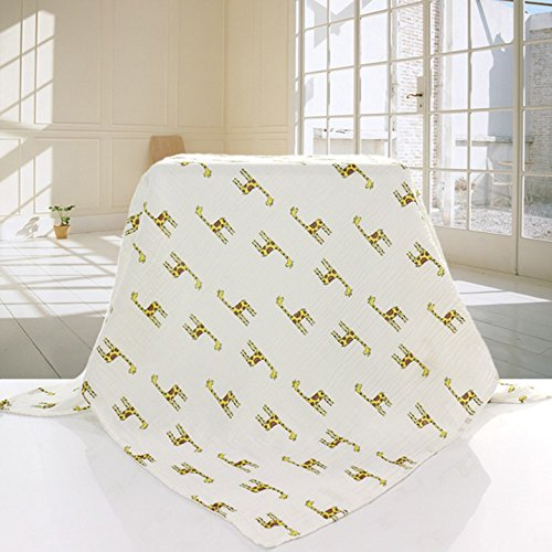 Minlano Muslin Swaddle Blankets-Baby Muslin Wrap Infant Newborn Towel Soft Sleeping 100% Cotton-3 Pack-47″X47 Inch Large Muslin Swaddles – Baby Shower Gift – Unisex For Boys Or Girls
