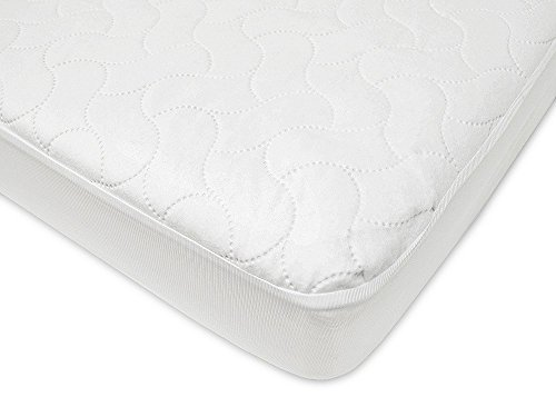 American Baby Company rjZnZw Waterproof Fitted Protective Mattress Pad Cover, Crib and Toddler (Fitted), 2 Unit